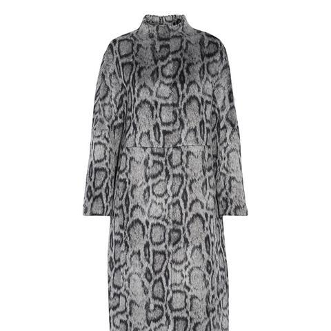 Balin Leopard-Print Faux Fur Coat