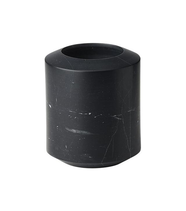 CB2 Black Marble Utensil Holder