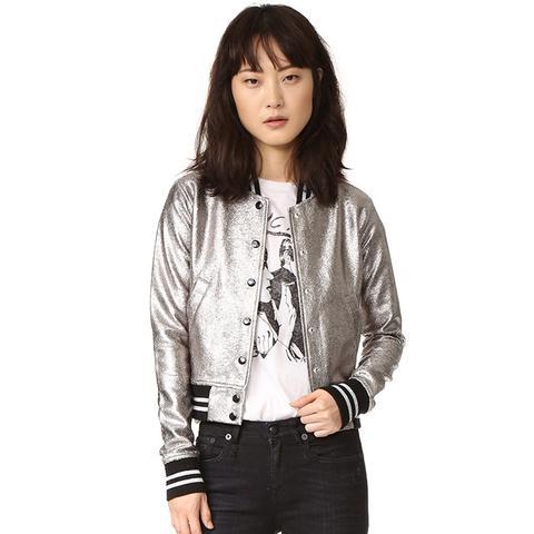 Shrunken Metallic Jacket