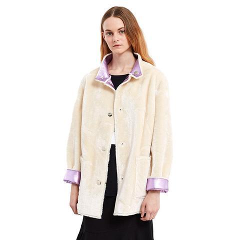 Faux-Fur Reversible Culver Coat