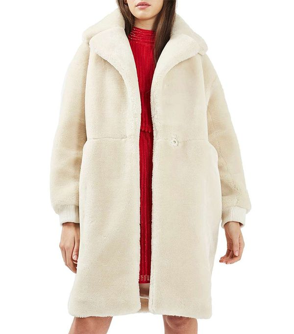 Topshop Polar Bear Coat