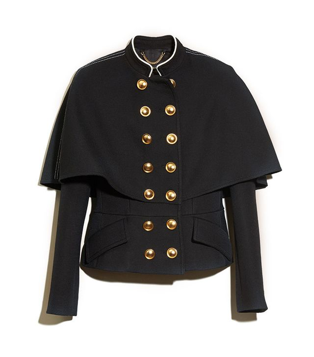 Burberry Wool Silk Military Cape Jacket