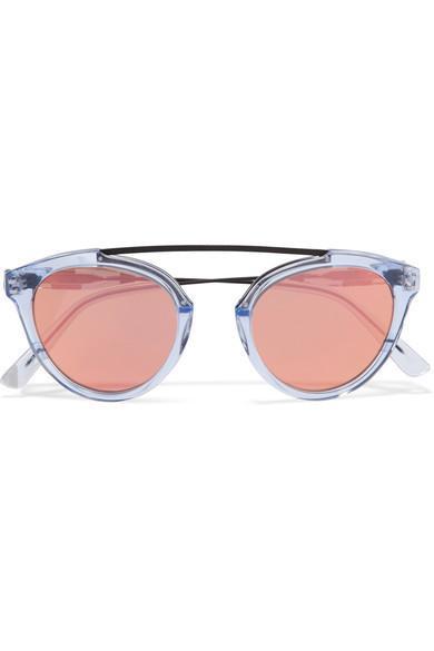 Westward Leaning x Olivia Palermo Flower 14 Aviator-Style Mirrored Sunglasses