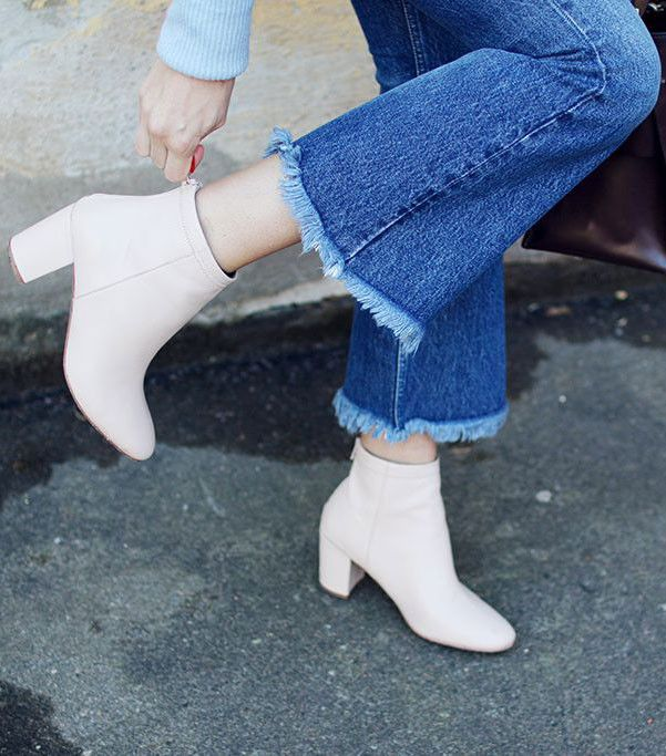 Jennie-Ellen Nude Leather Boots
