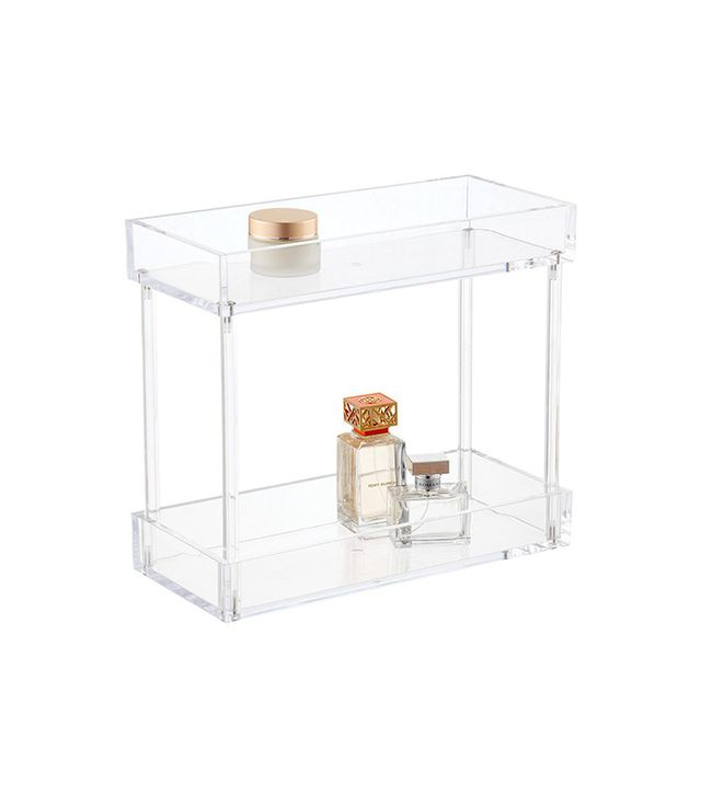 The Container Store 2-Tier Acrylic Tower