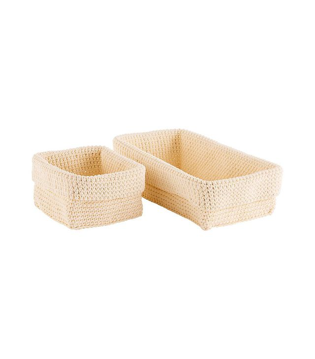 The Container Store Hughes Crochet Storage Bins