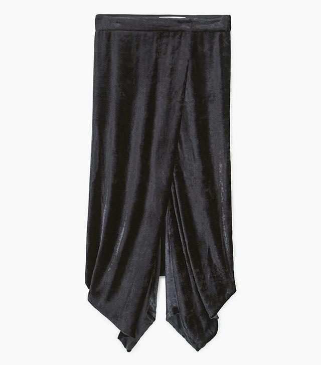 Mango Baggy Velvet Trousers