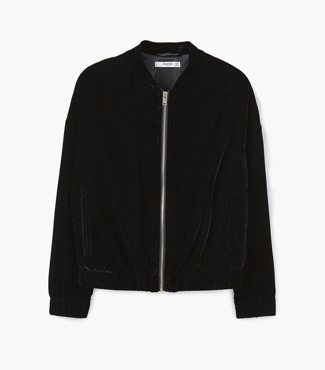 Mango Velvet Bomber Jacket