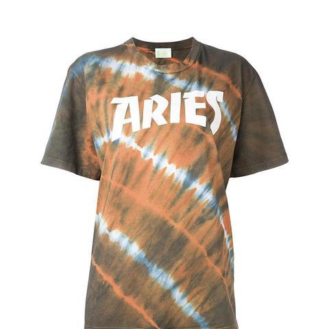 Logo Print Tie Dye T-Shirt
