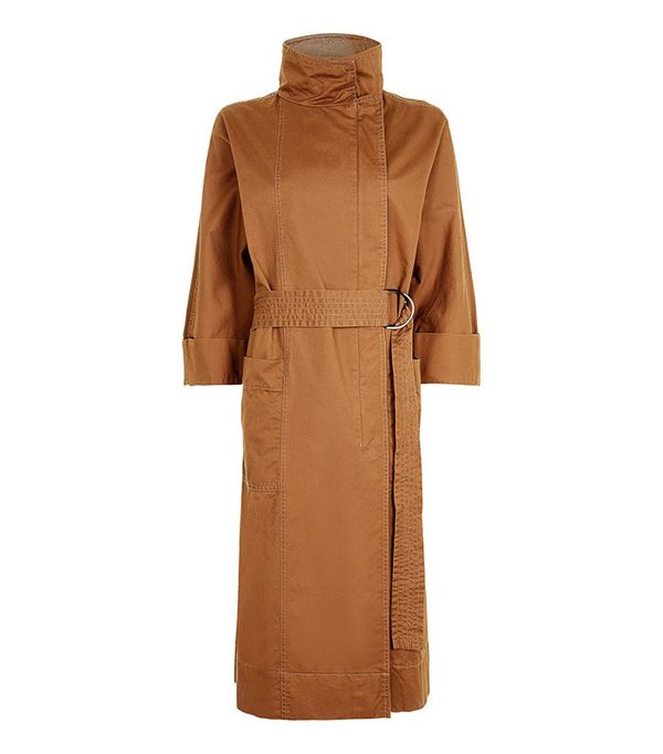 Topshop '80s Funnel Neck Trench Coat