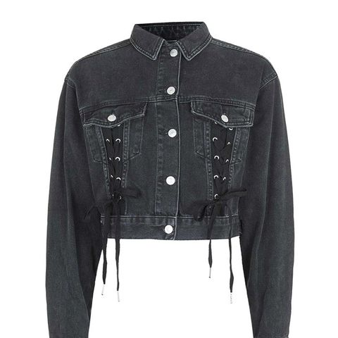 Moto Lace up Crop Jacket