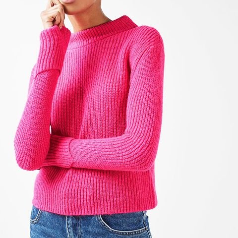 Lofty Turnback Cuff Knitted Jumper