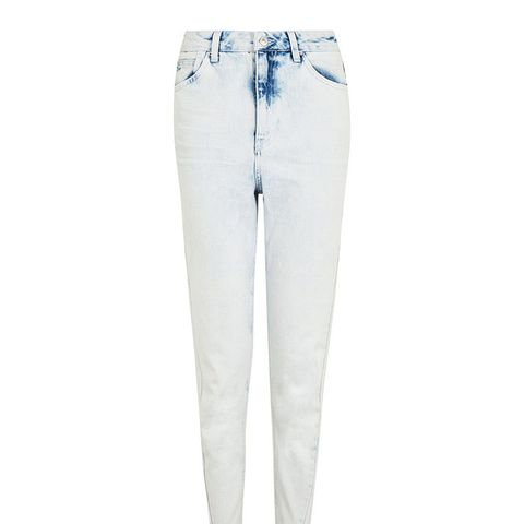Moto Bleach Twisted Seam Mom Jeans