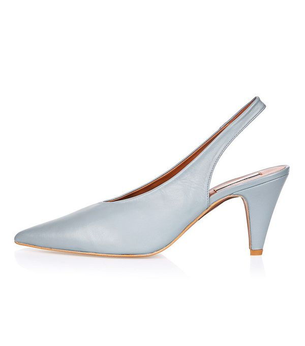 Topshop Jemma Point Mid Court Shoes