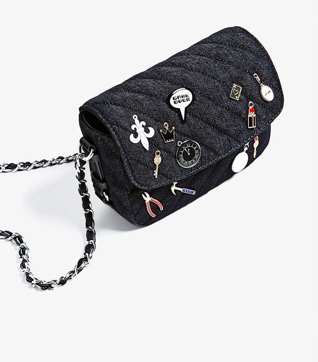 Zara Denim Crossbody Bag