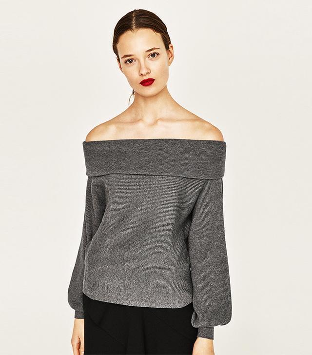 Zara Bandeau Sweater