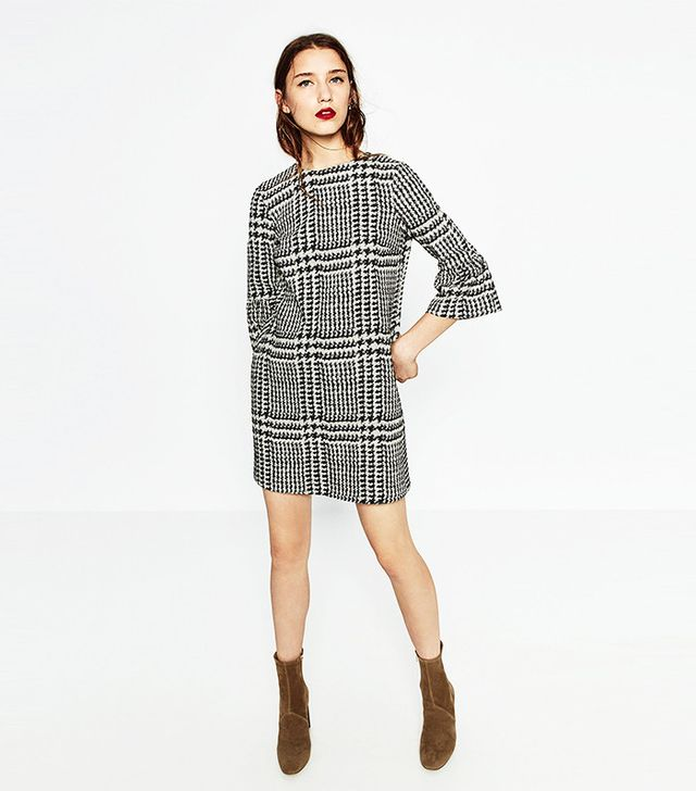 Zara Printed Mini Dress