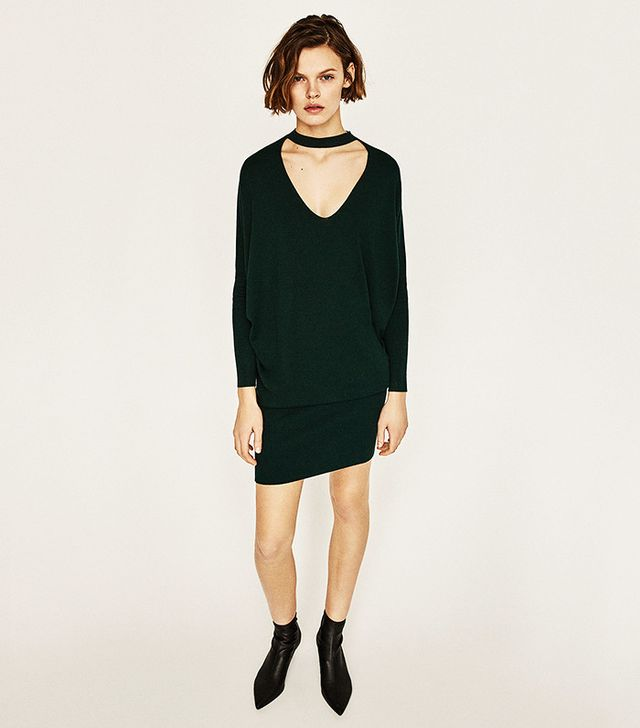 Zara V-Neck Choker Sweater