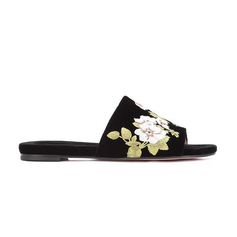 Flower Embroidered Slippers