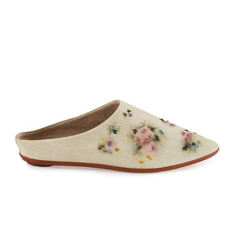 Bea Painted Canvas Slipper