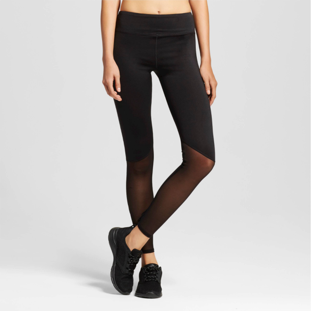 sWEat by Whitney Port Pieced Mesh Leggings