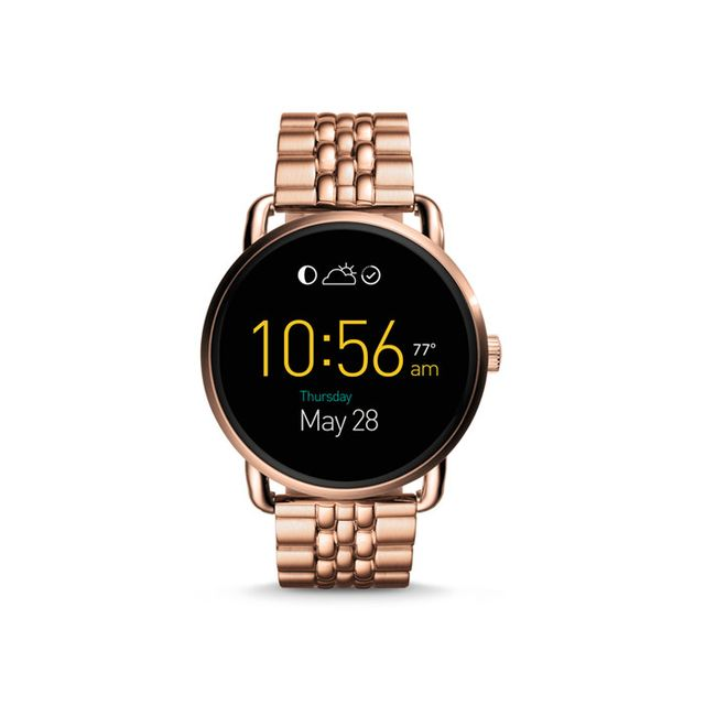 Fossil Q Wander Touchscreen Rose Gold-Tone Stainless Smartwatch