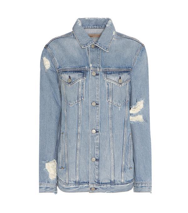 GRLFRND Daria Distressed Denim Jacket