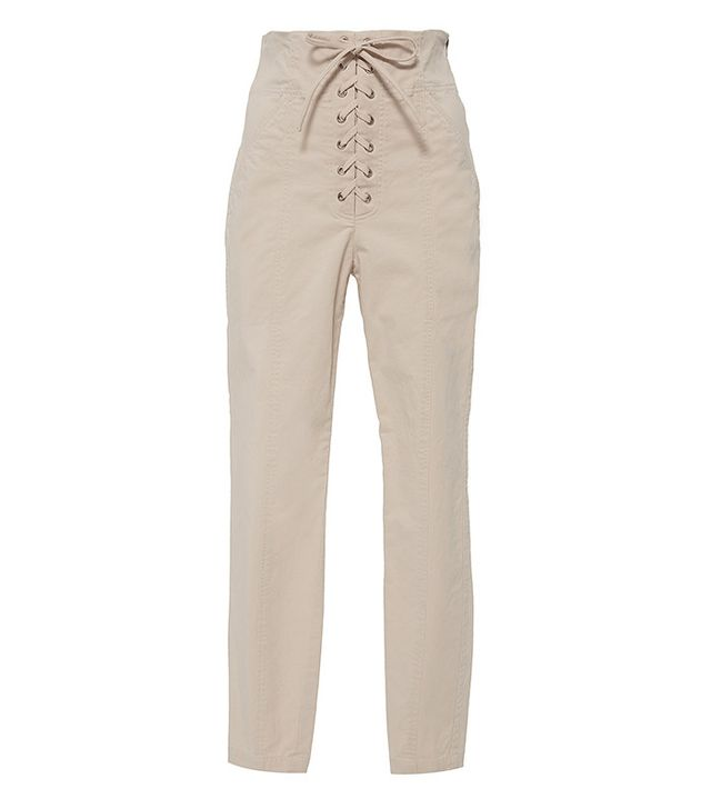 A.L.C. Kyle High-Rise Lace-Up Skinny Pants