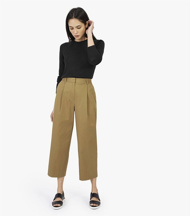 Everlane The Twill Crop Pants