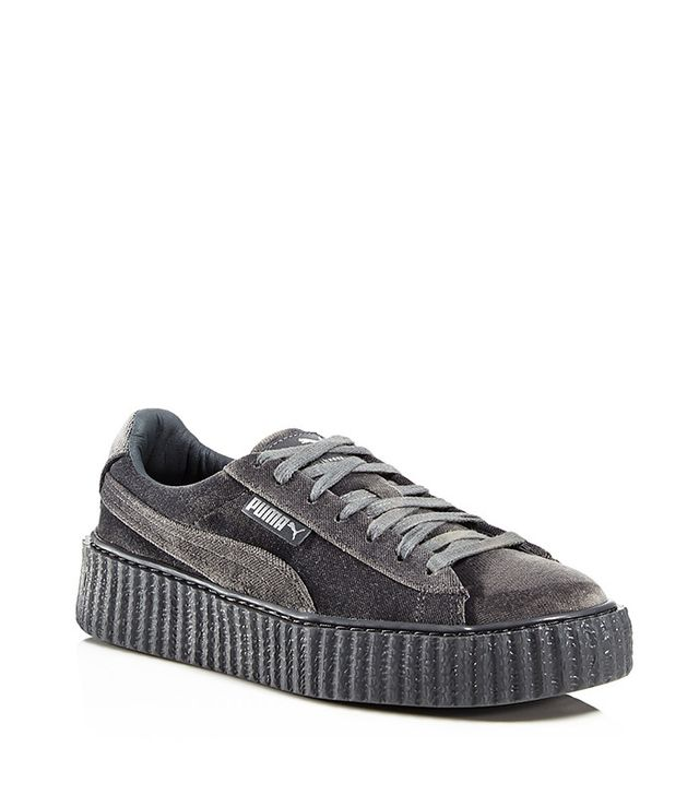 Fenty Puma X Rihanna Women's Velvet Lace-Up Creeper Sneakers