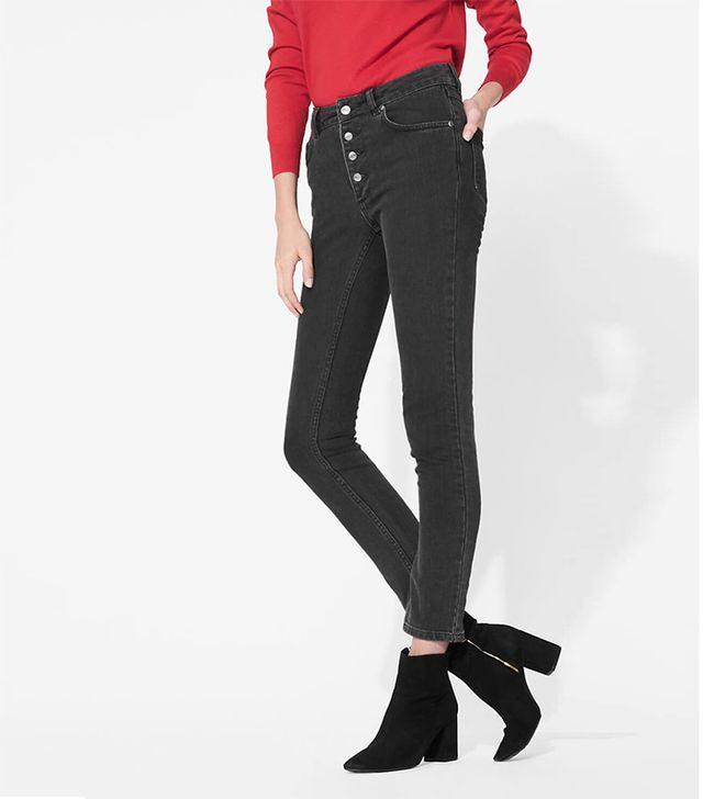 Anine Bing High-Waisted Button Up Jeans