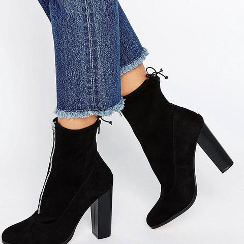 Etty Slouch Zip Sock Boots