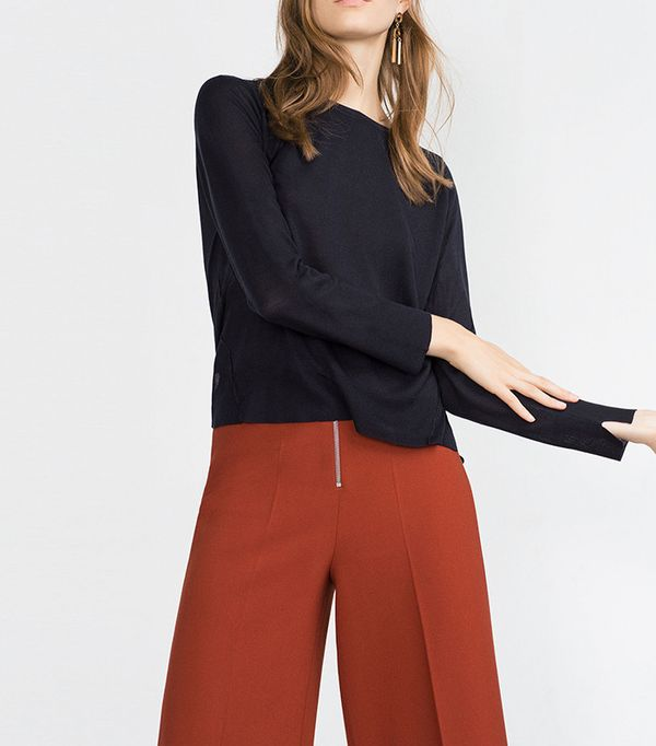 Zara Side-Slit Sweater