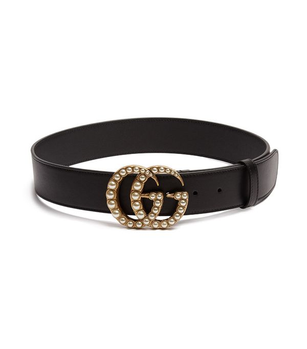 Gucci GG-Logo Leather Belt