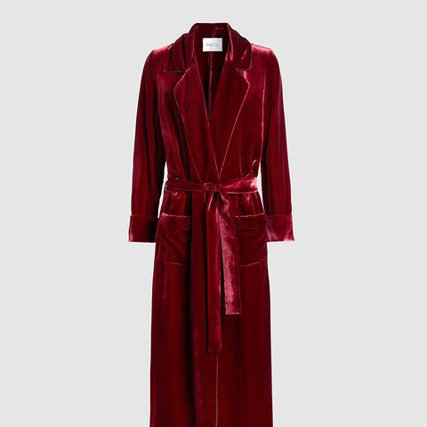 High Windsor Velvet Trench Coat