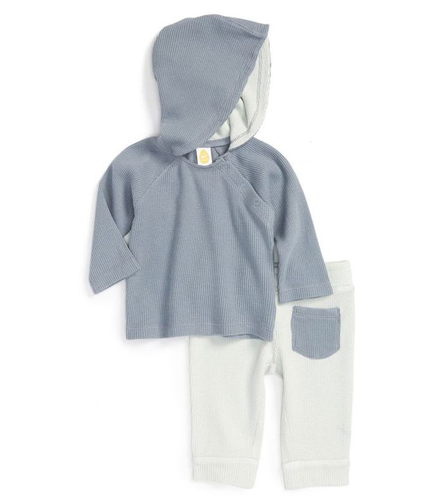 Stem Baby Organic Cotton Hoodie-and-Pant Set