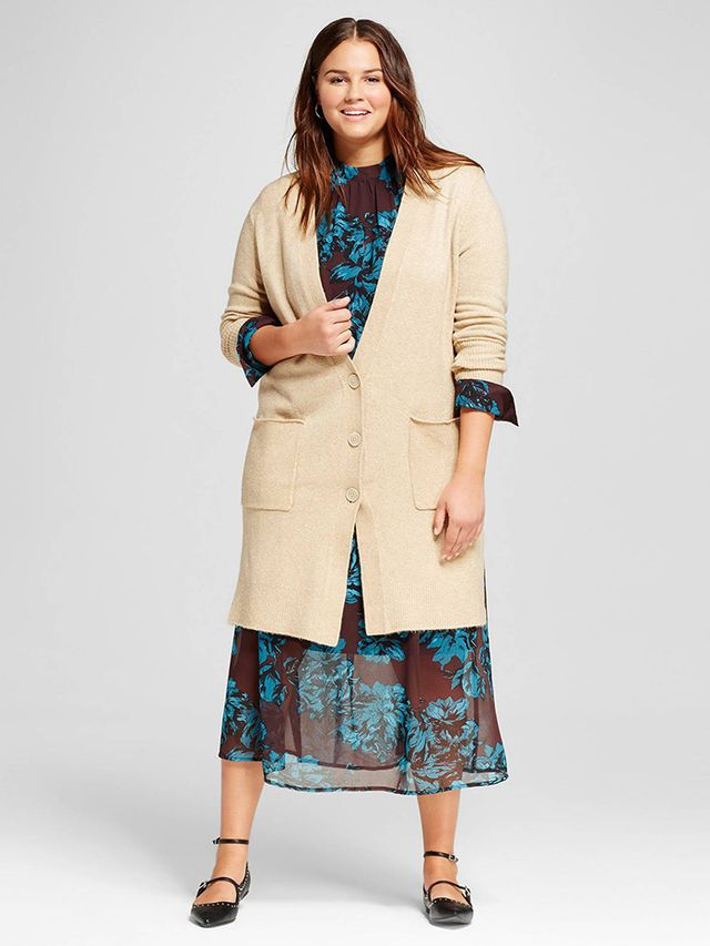 Who What Wear Plus Size Oversized Cardigan