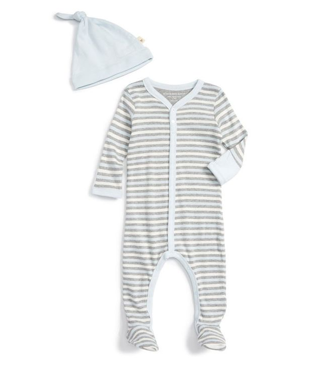 Burt's Bees Baby Organic Cotton Footie and Hat Set