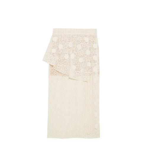 Appliquéd Cotton-Blend Lace Midi Skirt