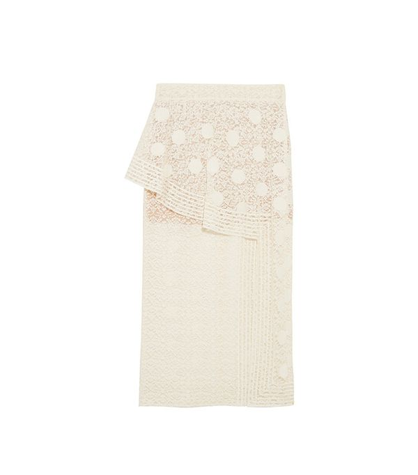 Stella McCartney Appliquéd Cotton-Blend Lace Midi Skirt