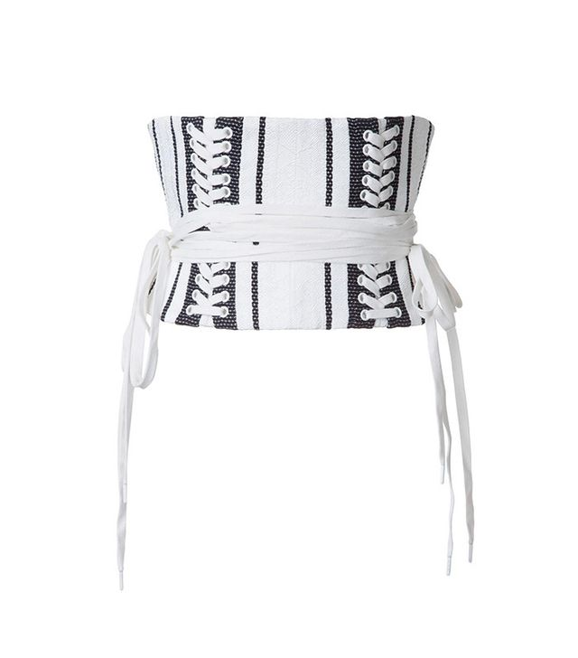 Alex Perry Striped Corset Top