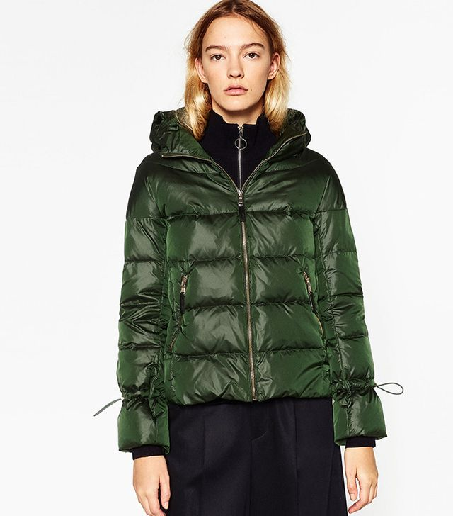 Zara Quilted Anorak With Hood