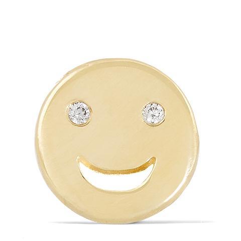 Happy 14-Karat Gold Diamond Earring
