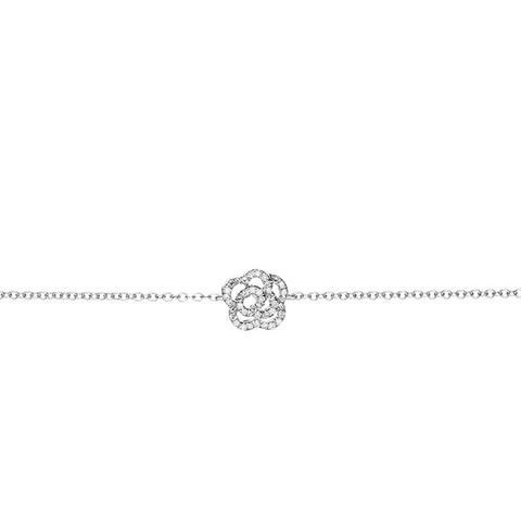 Diamond Rose Chain Bracelet