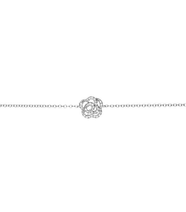 EF Collection Diamond Rose Chain Bracelet