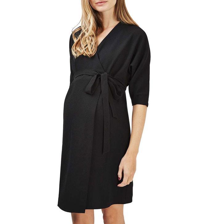 Topshop Dolman Wrap Maternity Dress