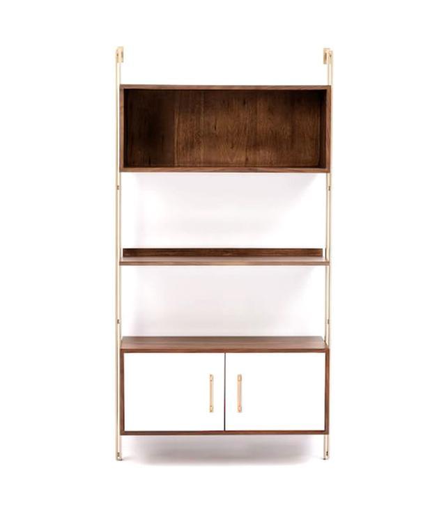 West Elm Linden Midcentury Wide Storage Shelf Unit