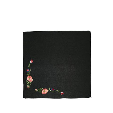 Floral Embroidered Bandana