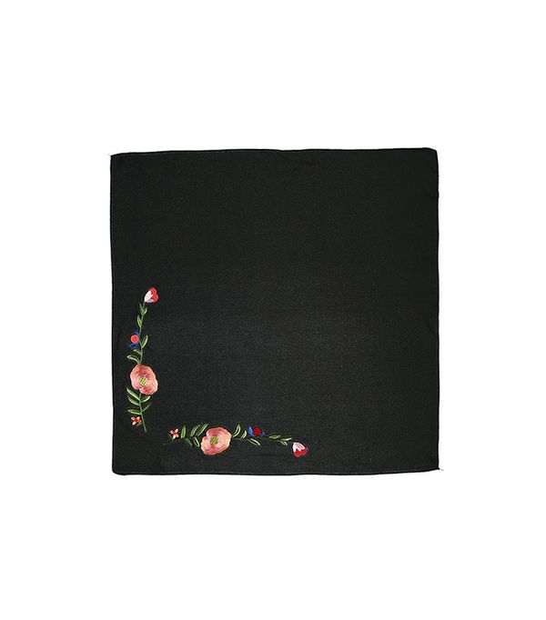 Forever 21 Floral Embroidered Bandana