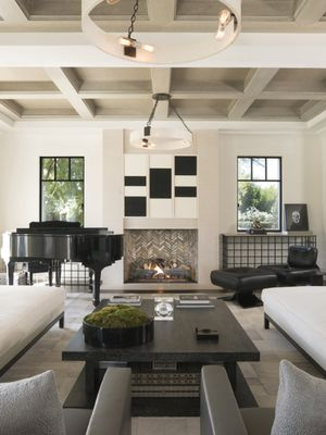 Tour Kourtney Kardashian's Sleek and Sophisticated Living Room